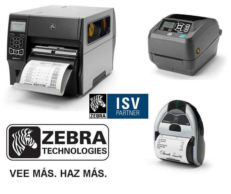 Impresoras de etiquetas y recibos Zebra